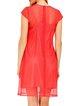 Coral Casual A-line Solid Midi Dress