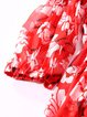 Red Floral-print Casual Floral Off Shoulder Mini Dress