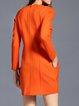Long Sleeve Crew Neck Casual H-line Midi Dress