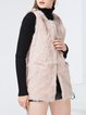 Pink Sleeveless Asymmetric Solid Vests And Gilet