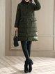 Long Sleeve Turtleneck Casual Solid Coat