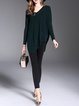 Asymmetrical Long Sleeve Solid Knitted Casual Sweater