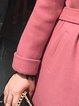 Plus Size Buttoned Casual Long Sleeve Solid Coat