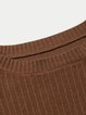 Caramel Crew Neck Long Sleeve Solid Shimmer Sweater