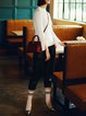 Plus Size White Solid Long Sleeve Wool Sweater