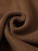Caramel Wool Asymmetric Crew Neck Casual Sweater Dress