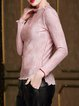 Ruffled Casual Solid Frill Sleeve Blouse