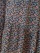 Frill Sleeve Casual Tie-neck Midi Dress
