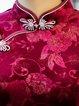 Velvet Elegant Floral 3/4 Sleeve Jacquard Midi Dress
