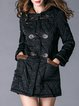 Solid Hoodie Buttoned Casual Long Sleeve Fur And Shearling Coat