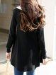 Black Tie-neck Long Sleeve High Low Sweater