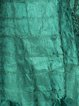 Plus Size Green A-line Crinkled Solid Long Sleeve Midi Dress