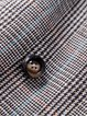 Long Sleeve Lapel Buttoned Houndstooth Coat