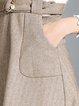 Casual Sleeveless Pockets A-line Midi Dress
