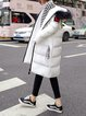 Patch Long Sleeve Casual Fur And Shearling Coat