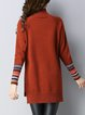 Caramel Asymmetric Knitted Casual High Low Sweater