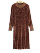 Casual H-line Ruffled Frill Sleeve Midi Dress
