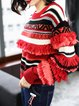 Casual Paneled Knitted Long Sleeve Sweater