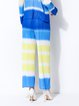 Plus Size Yellow Ombre/Tie-Dye Color-block Casual Straight Leg Pants