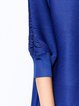 Plus Size Casual Pleated H-line Balloon Sleeve Solid Mini Dress