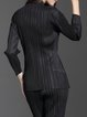 Stand Collar Pleated Casual Long Sleeve Solid Top