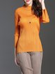 Casual Long Sleeve Stand Collar Top