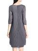 Plus Size Gray Paneled A-line Casual Midi Dress