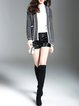 Knitted Long Sleeve Casual Solid Cardigan