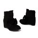 Plus Size Bowknot Suede Casual Wedge Boots