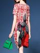 Asymmetric Printed Mini Dress