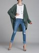 Polyester Solid Batwing Sweater