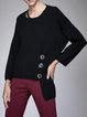 Long Sleeve Casual Solid Sweater