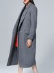 Gray H-line Wool Blend Elegant Lapel Coat