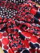 Polka Dots Printed Bell Sleeve Surplice Neck Flounce Midi Dress