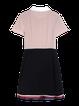 Short Sleeve Peter Pan Collar A-line Color Block Mini Dress