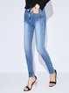 Cotton-blend Casual Jeans