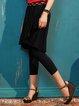 Black Guipure Lace Casual Culottes Pants