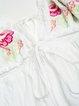 Sexy V Neck Spaghetti Strap Floral Embroidered A-line Mini Dress