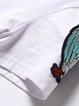 White Casual Crew Neck Polyester Midi Dress