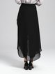 Black Chiffon Ruffled Casual Culottes Pants