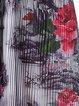 Black Floral Print V Neck Elegant A-line Midi Dress