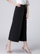 Black Casual Woven Wide Leg Pants