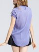 Short Sleeve High Low Casual Mesh T-Shirt