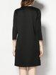 Printed Half Sleeve Letter Casual Mini Dress