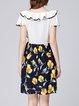 Multicolor Girly Ruffled Paneled Floral-print Midi Dress