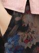 Black Casual Cotton-blend Floral-print Midi Skirt