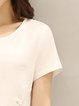 Printed Solid Short Sleeve T-Shirt