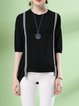 Short Sleeve Casual Knitted T-Shirt