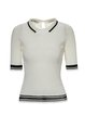 Basic Ribbed Solid Short Sleeved Top