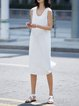 Crew Neck Sleeveless Midi Dress